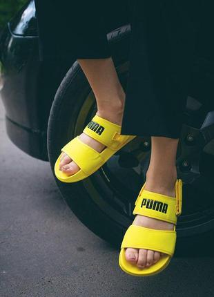 Женские босоножки puma ◈ сандали желтого цвета ◈ лето 😍