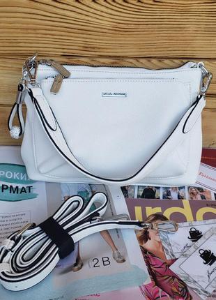 Женская стильная сумка через на плечо velina fabbiano белая жі...