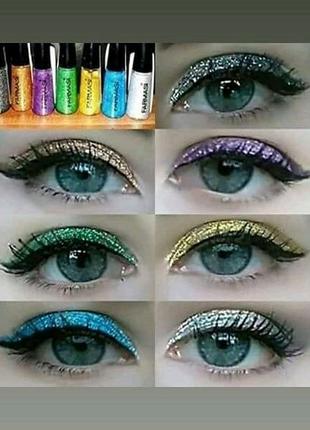 Подводки для глаз Glitter & Metallic