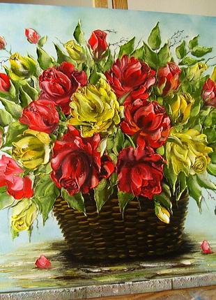 "Картина маслом ""Троянди"" 50 *60"
