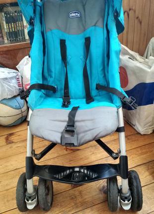 Прогулочная коляска трость сhicco Чикко голубая бирюзовая