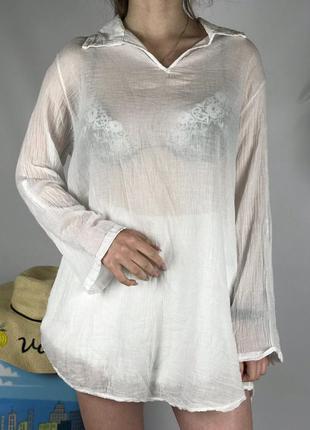 Летняя хлопковая блуза италия