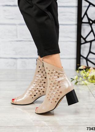 Элитная коллекция сапоги ботинки босоножки летние с перфорацие...
