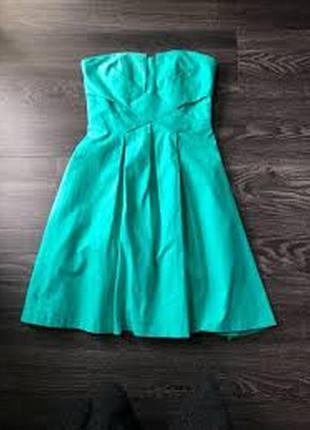 Spotlight by warehouse платье бюстье бирюзовое