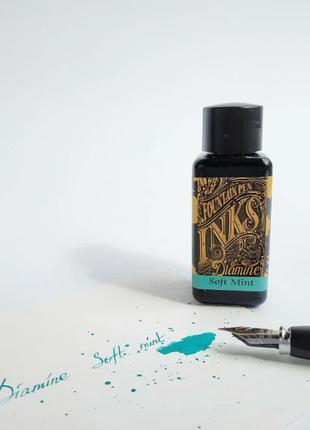 Чернила для перьевых ручек Soft mint Diamine