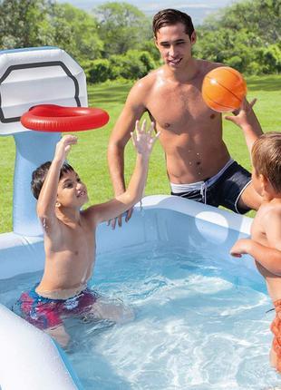 Детский надувной бассейн Intex с баскетбольным кольцом 57183