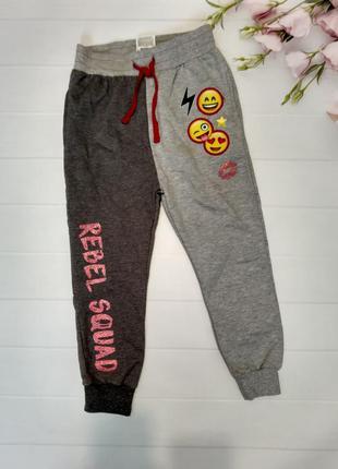 Спортивные штаны джоггеры с карманами манжетами смайликами pho...