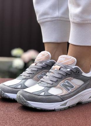 Шикарные женские кроссовки new balance 991 серые