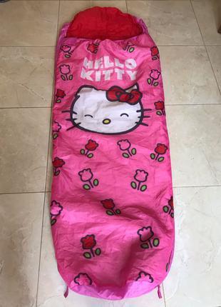детский спальный мешок спальник кокон Disney hello kitty