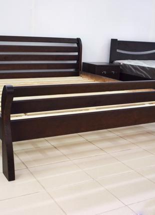 Кровать Деревянная 180х200см Двуспальная Аркадия . Массив Сосны