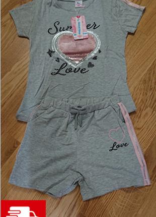 Набор летний футболка + шорты для девочек  🚚🚚🚚 доставка беспла...