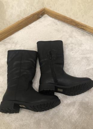 Сапоги женские зимние на удобном каблуке 🚚🚚🚚 доставка бесплатн...