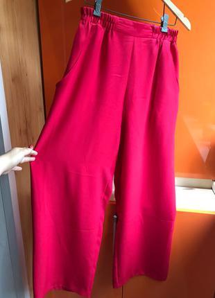 красные штаны брюки кюлоты Zara mango bershka