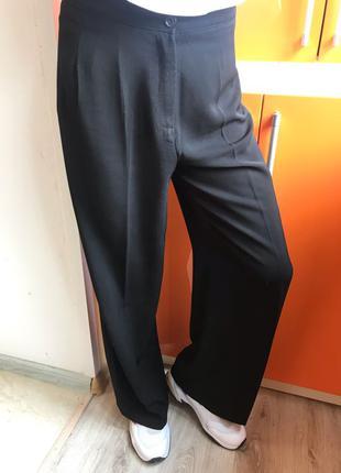 брюки кюлоты широкие штаны чёрные