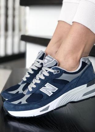 Красивые женские кроссовки new balance 991 тёмно синие.