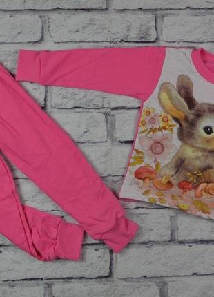 Детская пижама зайка начес