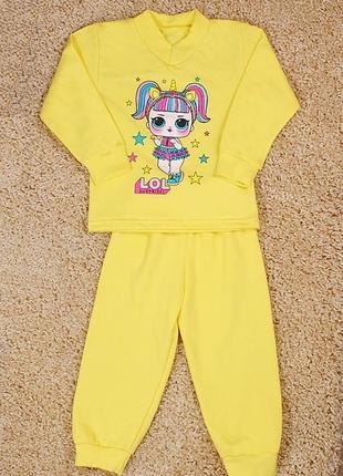 Детская пижама лол с начесом