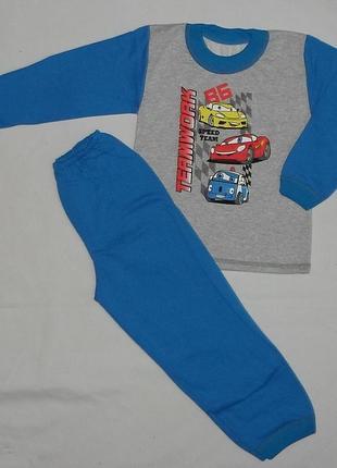 Детская пижама машинки начес