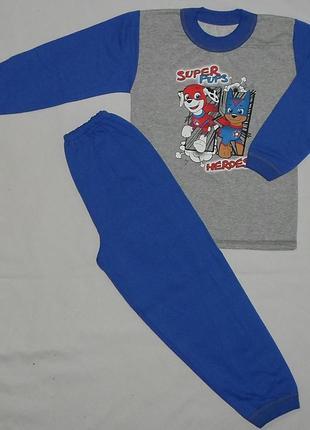 Детская пижама супер щенки начес