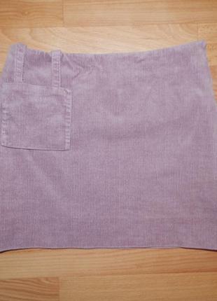 Вельветовая юбка с кармашком-сумочкой на р.134-140