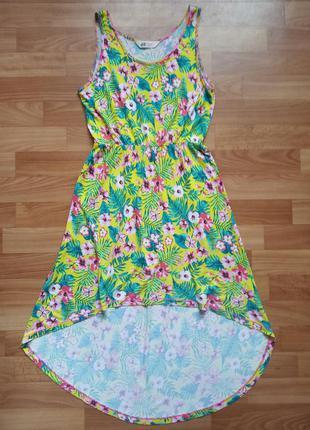 Яркое летнее платье h&m р.146-152