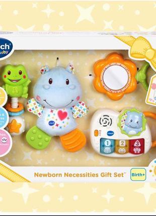 Подарочный набор VTech для новорожденных погремушка бегимот