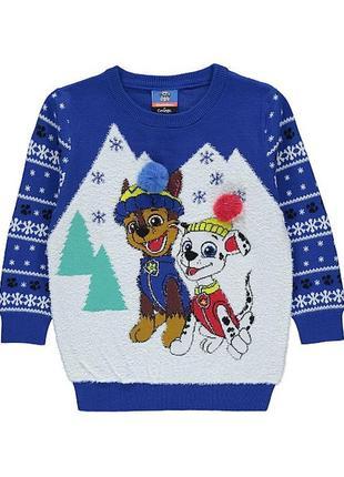 Детский свитер щенячий патруль