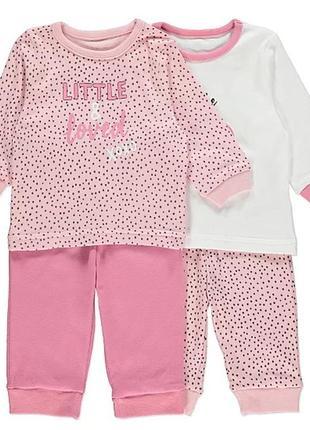 Набор детских хлопковых пижам george - 2 шт. на 1-1,5 года