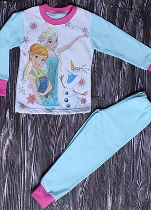 Детская пижама холодное сердце - начес