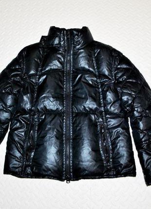 Пуховик l куртка бренда marc o polo черный глянцевый шикарный ...