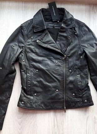 Новая куртка косуха из кожи со звёздами one more story германи...