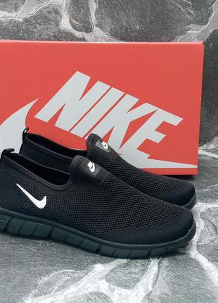 Летние кроссовки nike free run 3.0 черные,сетка,мужские
