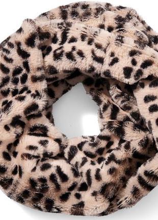 Меховый мягчайший шарф снуд хомут amisu