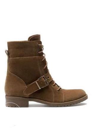 Кожаные замшевые ботинки сапоги  bershka 38