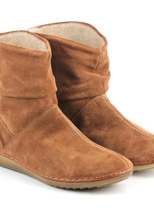 Кожаные замшевые  демисезонные сапоги ботинки 37