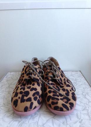 #розвантажуюсь туфли броги оксфорды ботинки с леопардовым прин...