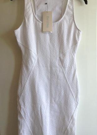 #розвантажуюсь белое фактурное платье bershka s