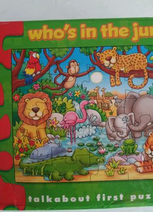 Пазлы картонные orchard toys кто живёт в джунглях