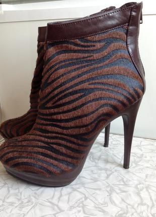 Sale ботинки ботильоны на платформе и каблуке в стиле zara