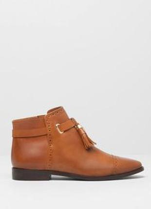Кожаные ботинки ботильоны челси оксфорды pull&bear