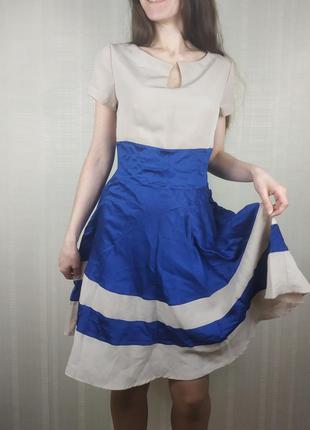 Sale нарядное нюдовое платье s m