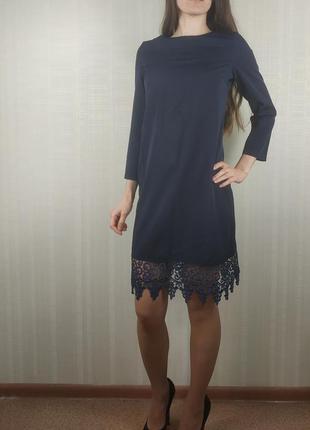 Sale шикарное платье с кружевом xs s
