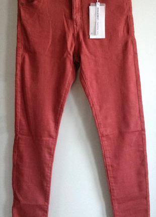 #розвантажуюсь пудровые зауженные джинсы скинни bershka m