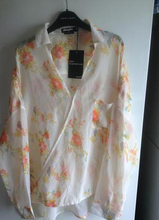 #розвантажуюсь шикарная шифоновая блуза оверсайз s m