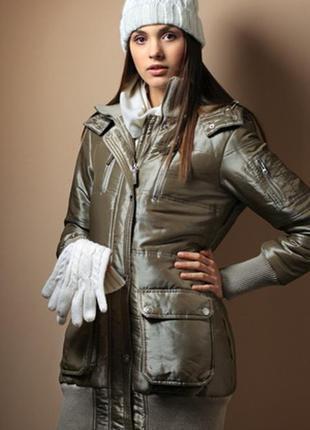 Sale серебристое серое цвета металлик пальто куртка s