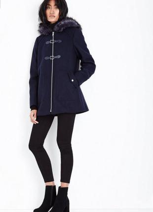 Sale черное пальто парка в стиле zara xs s