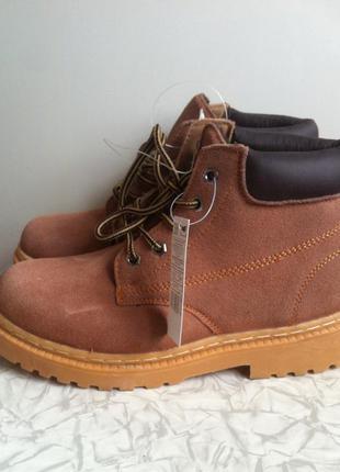 Кожаные зимние ботинки в стиле zara 36 37