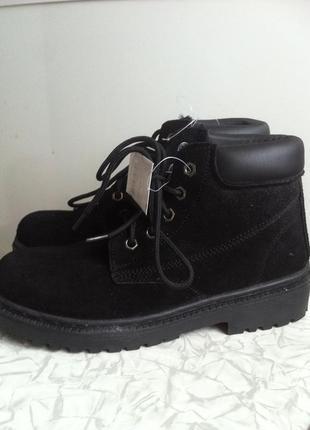 Кожаные зимние ботинки в стиле zara 37