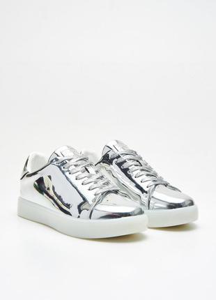 Sale серебристые зеркальные цвета металлик кроссовки cropp
