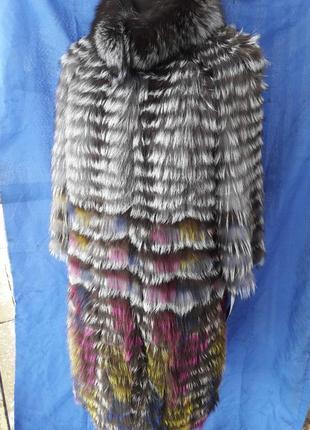 Шуба кардиган чернобурка все размеры